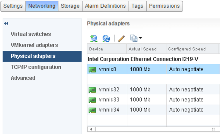 domalab.com vSphere Standard Switches physical adapters
