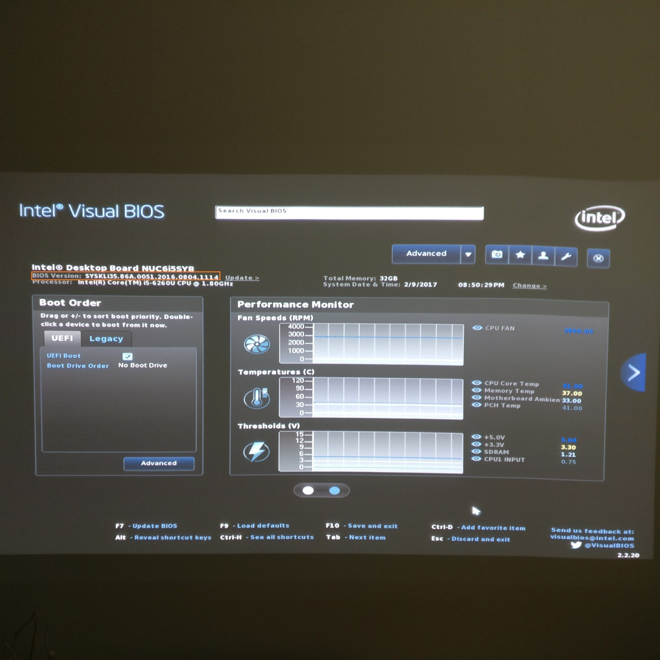 domalab.com Intel NUC BIOS visual