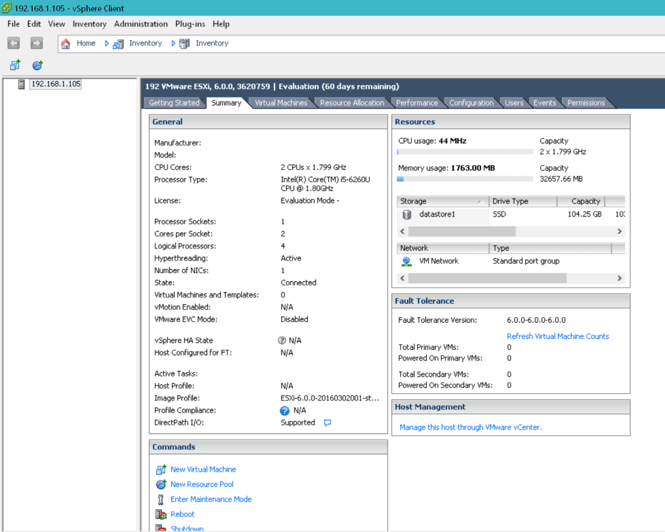 domalab.com Intel NUC ESXi configuration first time