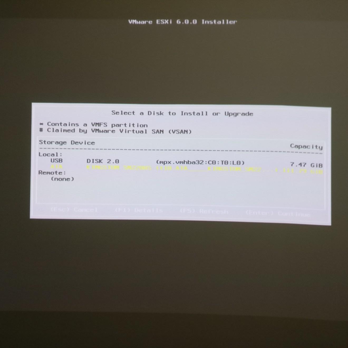 domalab.com Intel NUC ESXi Hypervisor disk