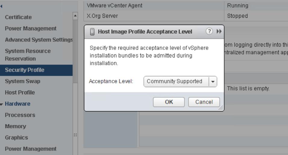 domalab.com VMware vSphere Drivers Host Acceptance Level