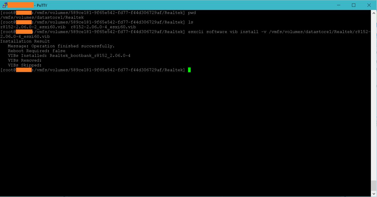 domalab.com VMware vSphere Drivers install vib