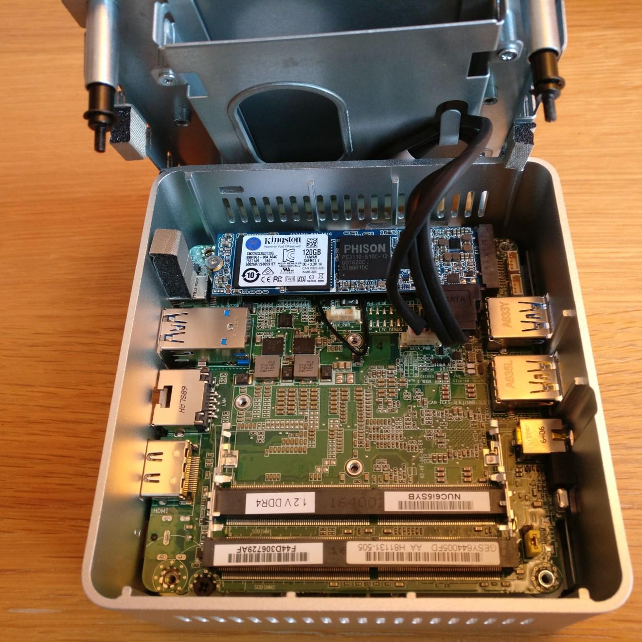 domalab.com intel nuc home lab Intel NUC m.2 card