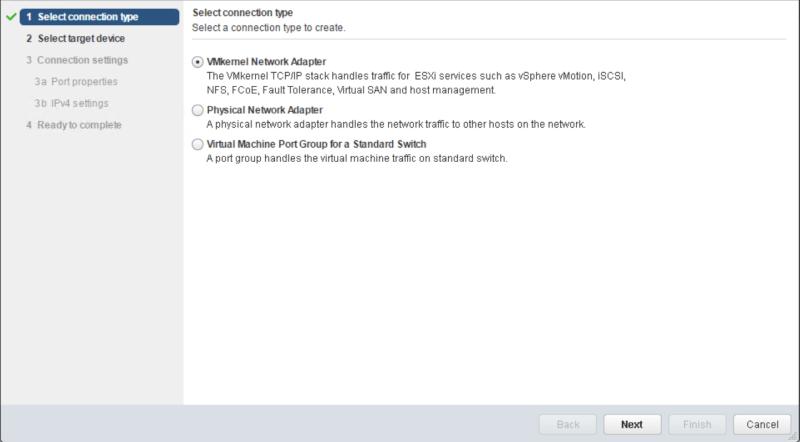 domalab.com VMware vSphere VMkernel add wizard