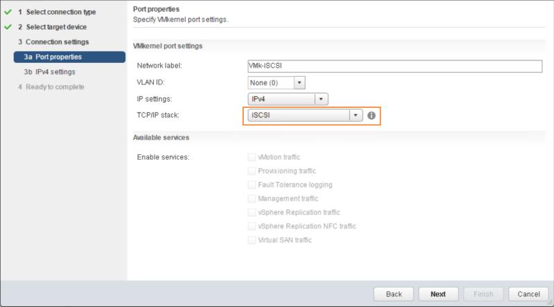 domalab.com VMware vSphere VMkernel select TCP/IP stack