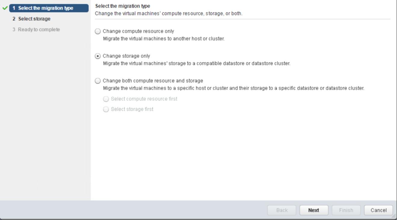 domalab.com VMware vMotion storage only
