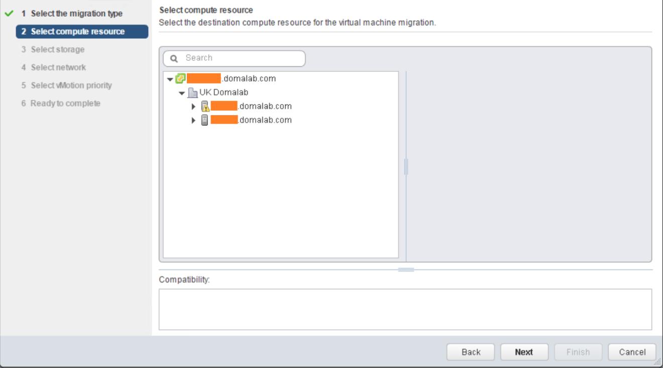 domalab.com VMware vMotion select compute
