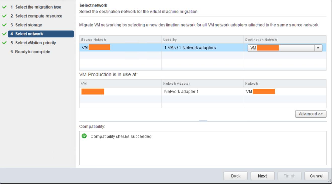 domalab.com VMware vMotion select network