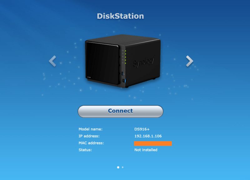 Synology NAS Setup connect