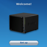 First time configuration for Synology NAS