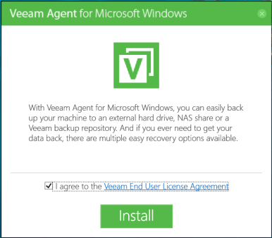 domalab.com Veeam Agents splash screen