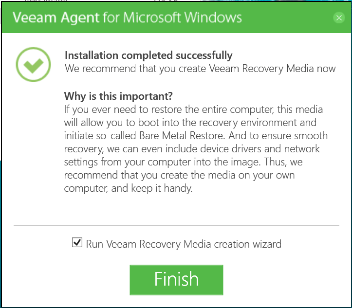 domalab.com Veeam Agents install complete
