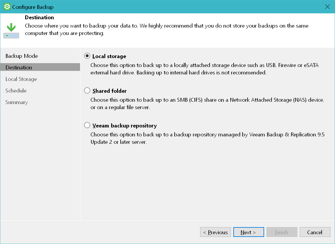 domalab.com Windows Backup Agent configure backup destination