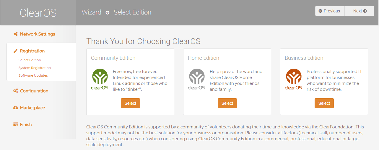 domalab.com Configure ClearOS community edition