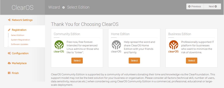 domalab.com Configure ClearOS community edition