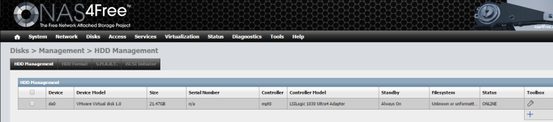 Install NAS4Free VMware ESXi 38