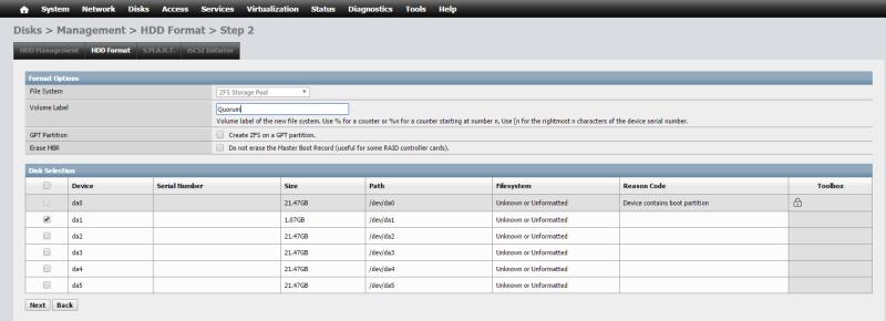 Install NAS4Free VMware ESXi 46