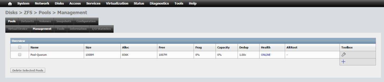 domalab.com NAS4Free storage add pool