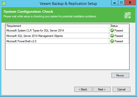 Backup and Replication system requirements