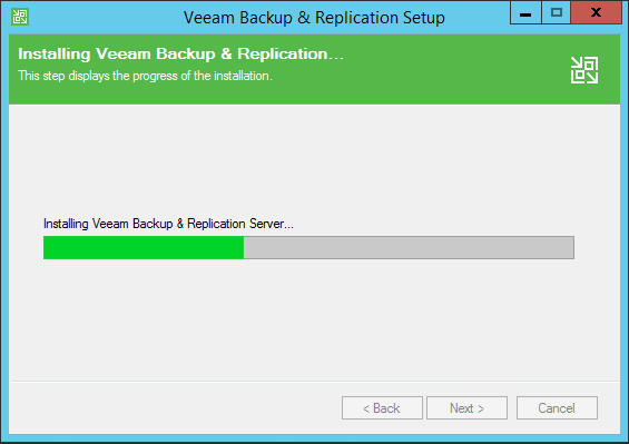 Backup and Replication install