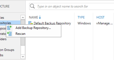 Create CIFS Share as Veeam Backup Repository