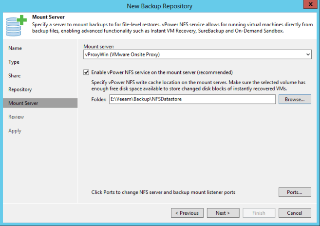 Create CIFS Share as Veeam Backup Repository » domalab