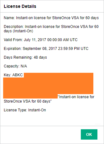HPE StoreOnce Instant-on license