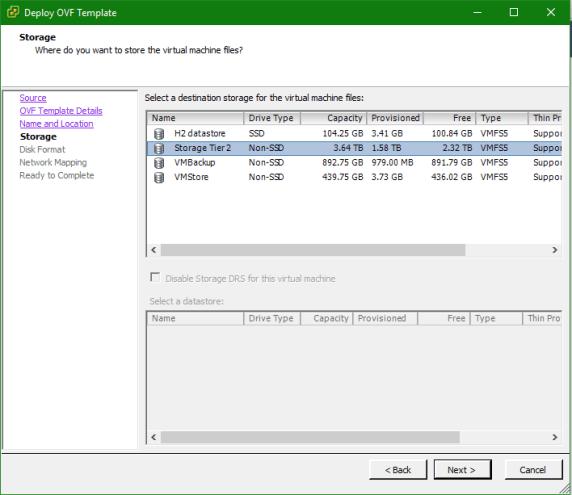 Deploy EMC Isilon OneFS Datastore