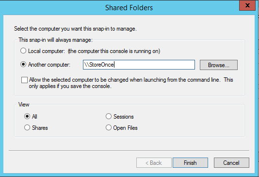 MMC add computer