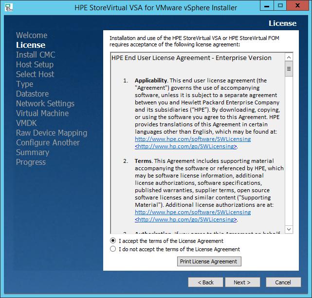 Install HPE StoreVirtual VSA on vSphere » domalab