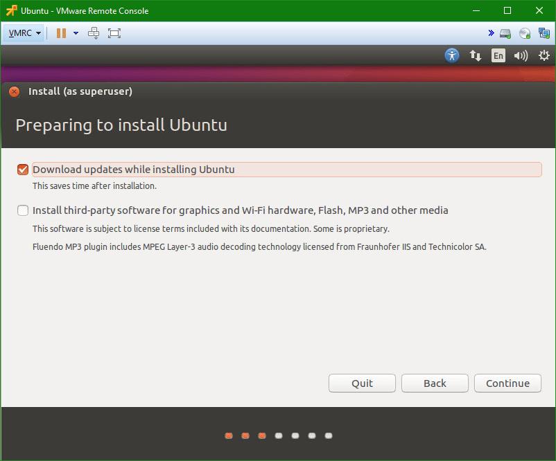 Linux Ubuntu prepare install