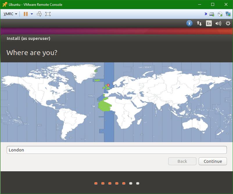 Linux Ubuntu location