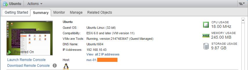 Linux Ubuntu VMware tools guest managed