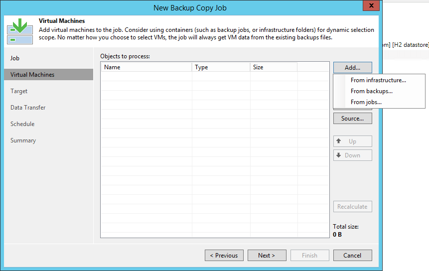 Veeam Backup Copy Job VM