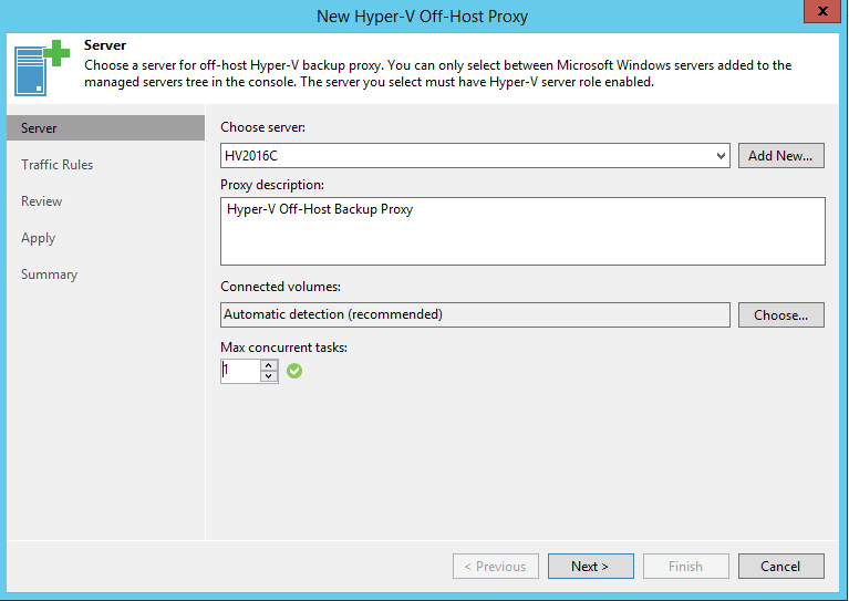 Choose Hyper-V Off-Host