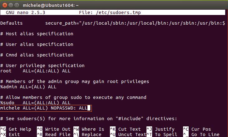 Linux Backup Server edit sudoers