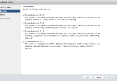 Create virtual Distributed Switches in VMware vSphere