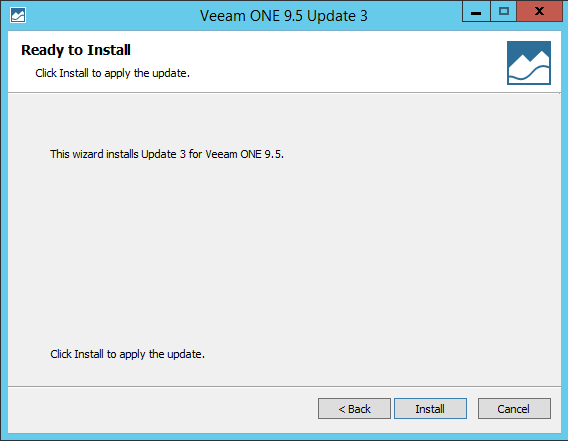 Upgrade Veeam One Install