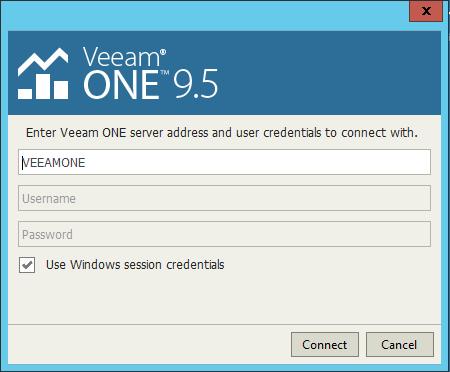 Upgrade Veeam One console
