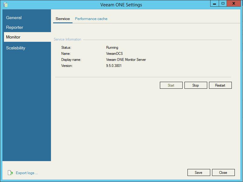 Veeam One Configuration Monitor settings