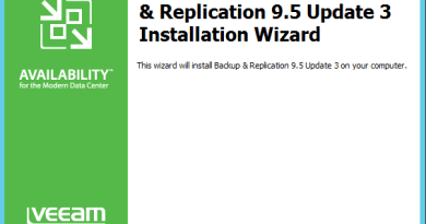 How to upgrade Veeam Backup & Replication 9.5 to update 3