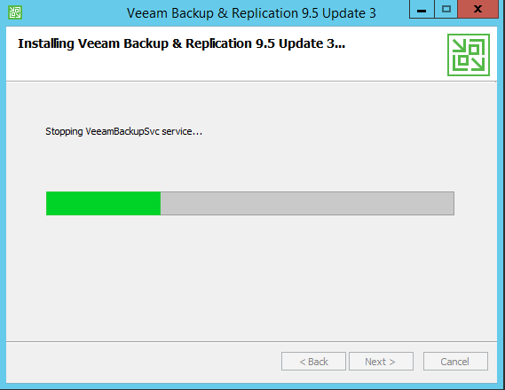 Upgrade Veeam Backup installation