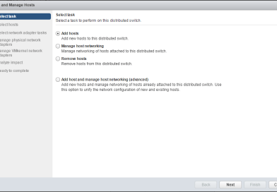 Manage Hosts with vSphere virtual Distributed Switches