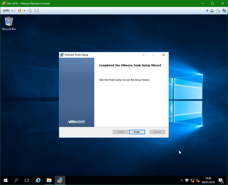 domalab.com Windows Server 2016 VMware Tools install completed