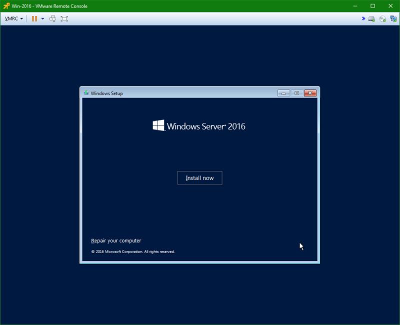 domalab.com Install Windows Server 2016