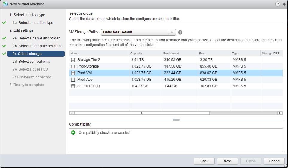 Windows Server 2016 vmware storage resource