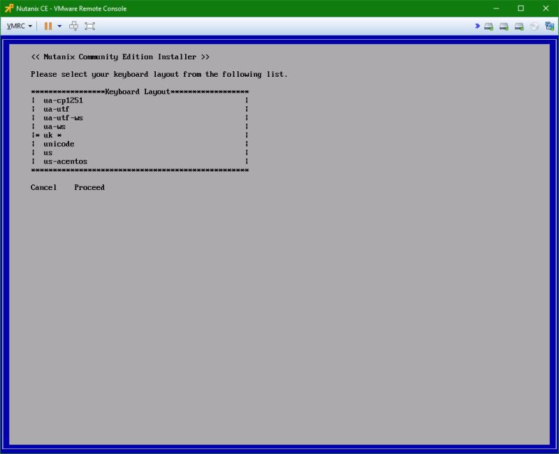 domalab.com Install Nutanix nested VMware keyboard