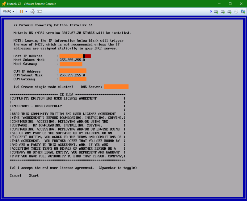 domalab.com Install Nutanix nested VMware network