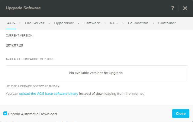 domalab.com Configure Nutanix upgrade AOS