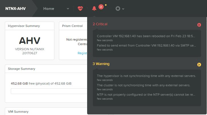 domalab.com Configure Nutanix Time Server Alerts